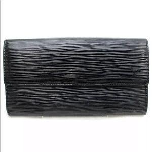 Louis Vuitton Portofille Sarah Black Epi